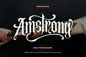 Amstrong Typeface (intro sale)