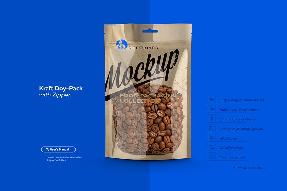 Free Doy-Pack with Zipper