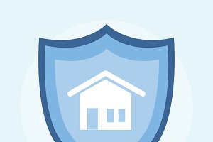 Illustration of home insurance