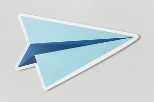 Launching paper plane cut out (PSD)