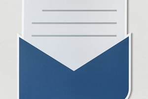 Open letter email alert icon (PSD)