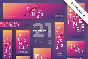 Banners Pack | Fitness Training Gym