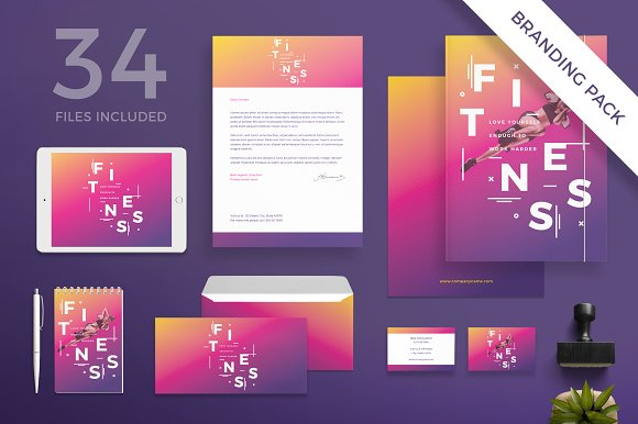 Branding Pack Fitness Training Gym
