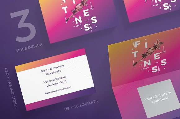 Business Cards Fitness Training Gy