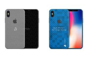 iPhone X Vinyl Skin Design Mockup