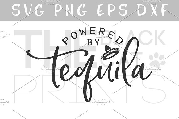 Powered By Tequila SVG DXF PNG EPS