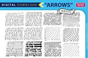 Doodle Arrows Handdrawn Vector
