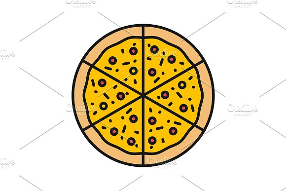 Pizza Color Icon
