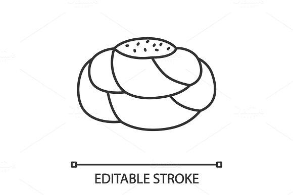 Pastry Bread Linear Icon