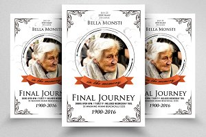 In the Loving Memory Flyer Template