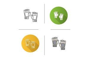 Fingerless gym gloves icon