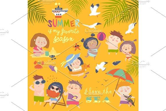 Summer Childs Outdoor Activities Beach Holiday