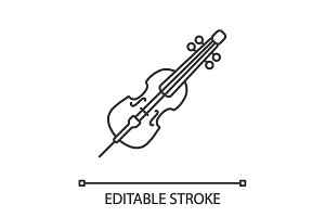 Cello linear icon