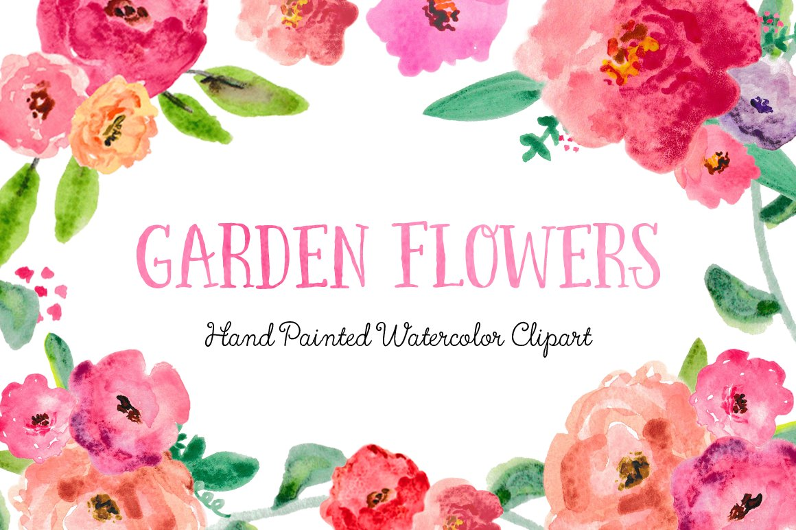 Watercolor flowers png clipart illustrations on creative market - Watercolor Flowers Png Clipart Illustrations On Creative Market 14