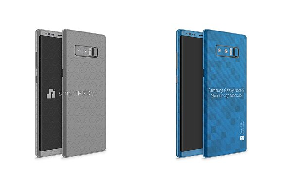 Galaxy Note 8 Vinyl Skin Design Mock