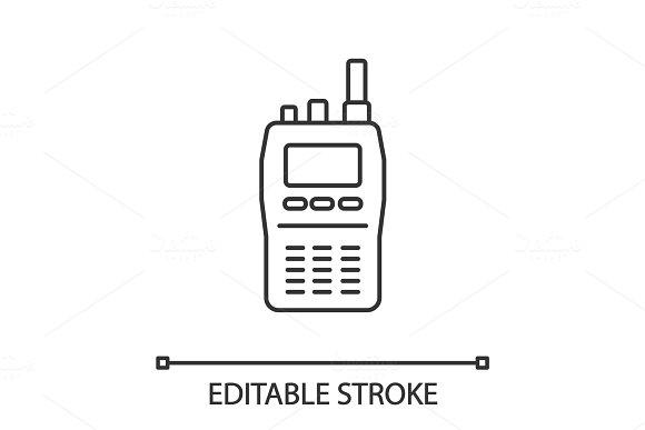 Walkie Talkie Linear Icon