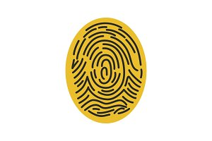 Fingerprint color icon