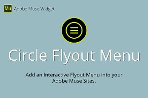 Circle Flyout Menu Adobe Muse Widget
