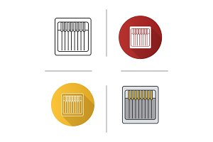 Sewing machine needles pack icon