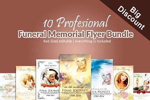 10 Memorial & Funeral Flyer Bundle