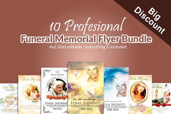 10 Memorial Funeral Flyer Bundle