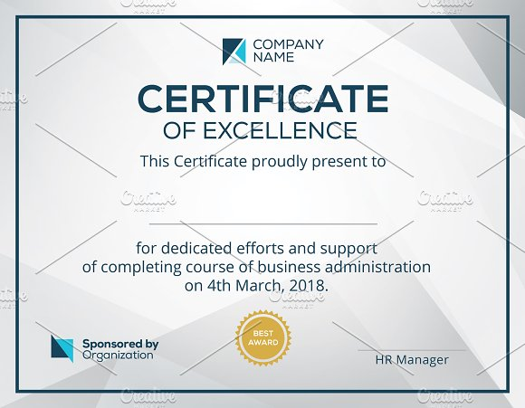 corporate certificate template stationery templates creative daddy