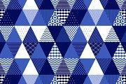 Blue and white geometric seamless