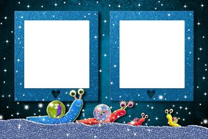 Two empty frames for kids