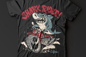 Shark Rider T-Shirt design