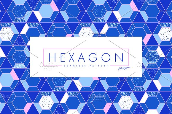Geometric seamless pattern Hexagons
