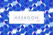 Geometric seamless pattern Hexagons