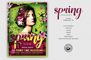 Spring Equinox Flyer Template V5