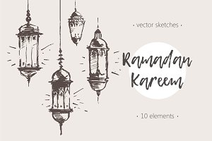 Big set of Ramadan Kareem sketches