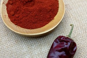 Paprika from red dry pepper