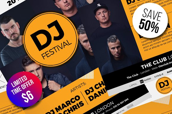 DJ Festival Flyer Template