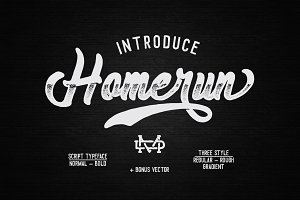 Homerun Typeface - 30% OFF
