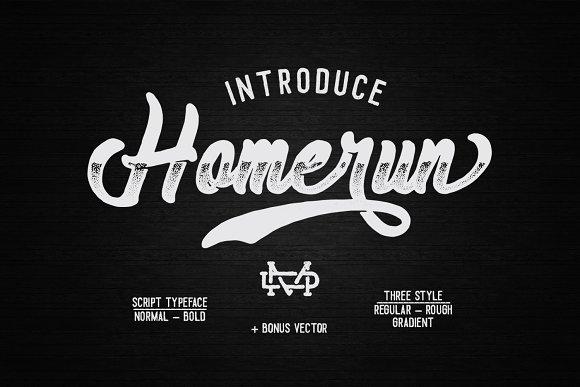 Homerun Typeface 30% OFF