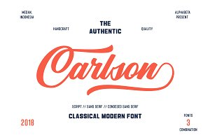 Carlson | 3 Font Combination