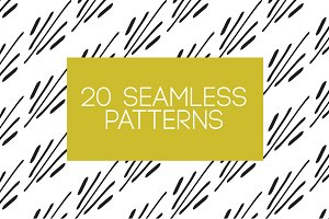 20 Seamless Patterns Vector Pack
