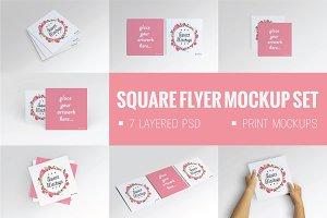 Square Flyer Mock-Up Set