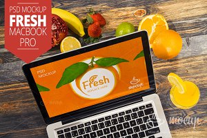 MacBook Pro PSD Mockup Fresh