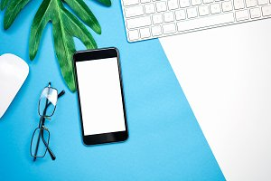 blank screen of smartphone.