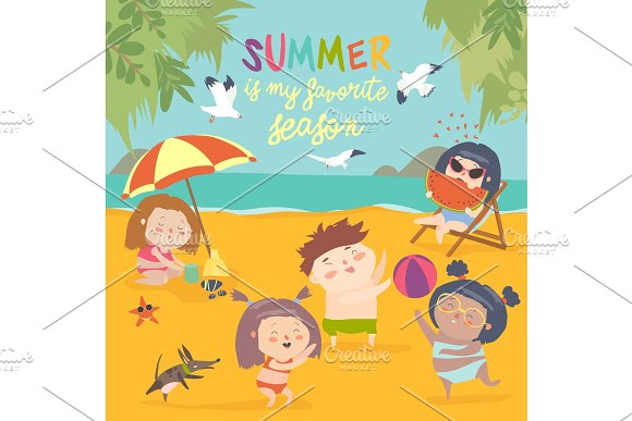 Summer Childs Outdoor Activities Beach Holiday