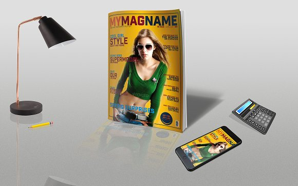 Magazine Cover Mock-up Reflection