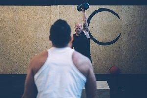 Cross fit routine box gym girls men