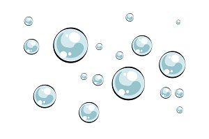 Soap bubbles pop art vector illustration