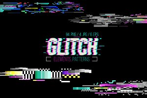 Glitch Elements and Patterns