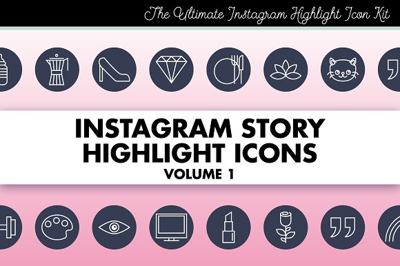 Instagram Story Highlight Icons 1 in Instagram Templates
