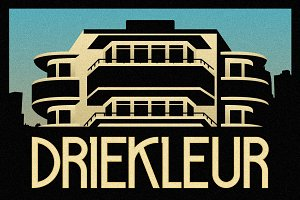 Driekleur Typeface