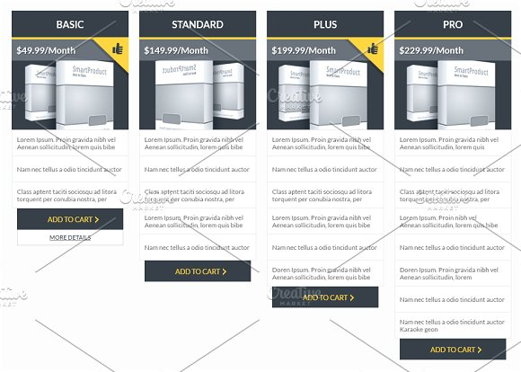 Flat pricing table templates web elements creative market flat pricing table templates web elements pronofoot35fo Image collections